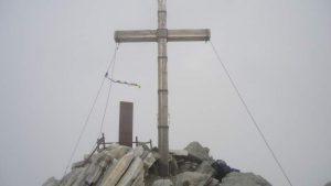 The summit cross.