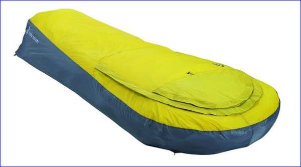 The bivy with closed rain fly.