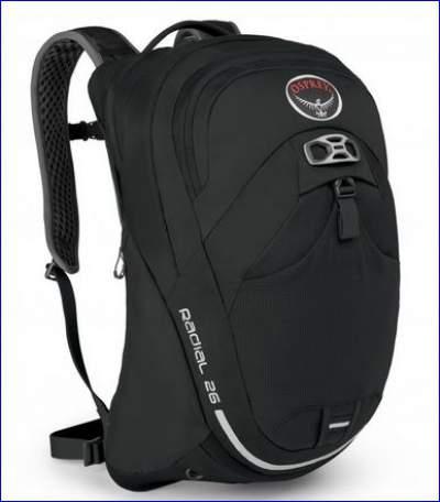 New Osprey Radial 26 in black color.