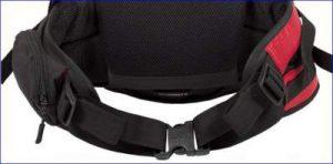 The hip belt system.