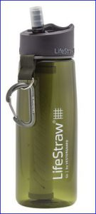 New LifeStraw Go Water Bottle filter in one out of 5 colors.
