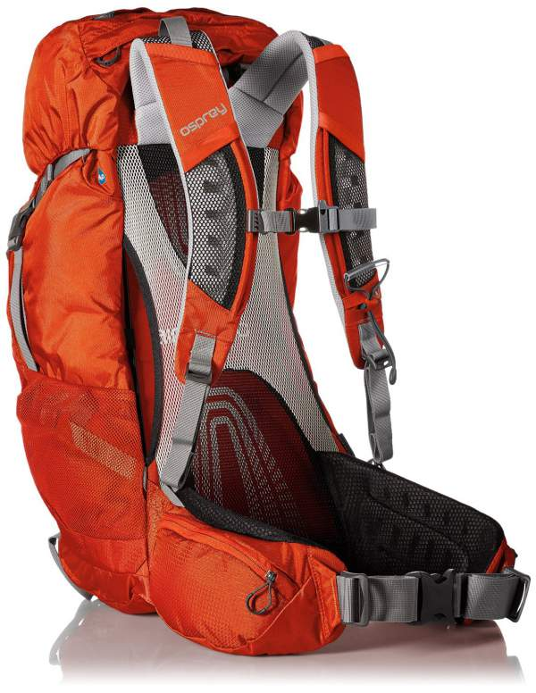 Osprey Stratos 36 pack - the suspension system with tensioned mesh.