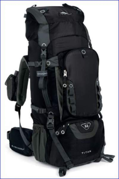 Titan 55 pack - front view.