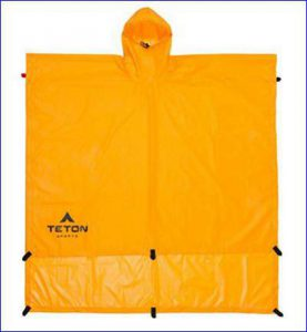 The included poncho tarp.