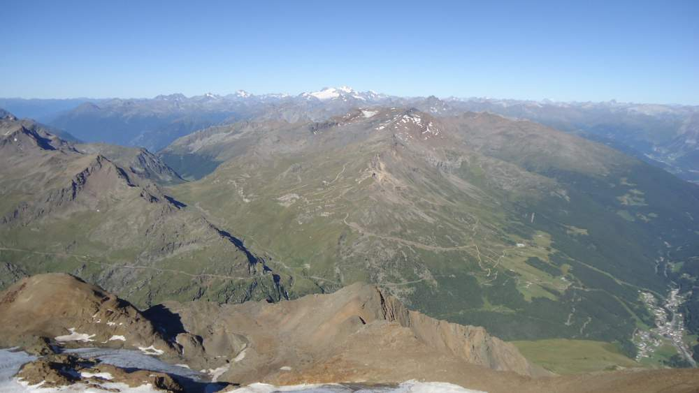 Monte Sobretta seen from the summit of Pizzo Tresero.