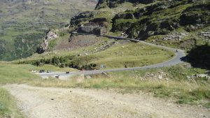 Parking on the Gavia road.