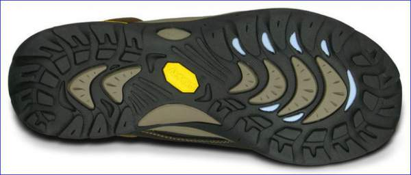 Vibram rubber bottom.