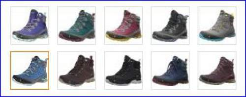 All colors of Ahnu Sugarpine boots for women.