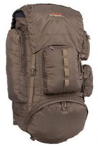 The pack alone with its attachment points and pockets.