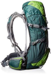 Side view showing how detached the mesh is from the back of the pack.