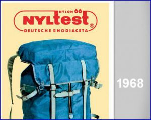 Nylon packs introduced in 1968.