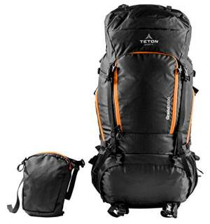 Teton Sports Grand 5500 with its front pocket detached.