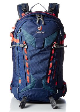 Deuter Freerider Pro 30 snow backpack, front view.