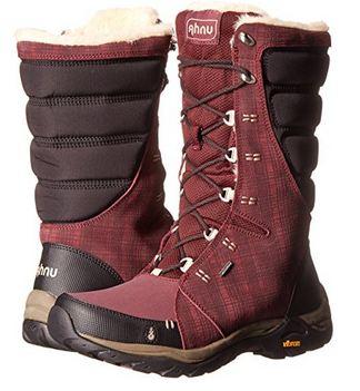 Ahnu Women's Northridge Insulated WP hiking boots.