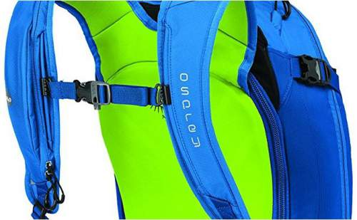 Details on the harness, and insulated water tube.