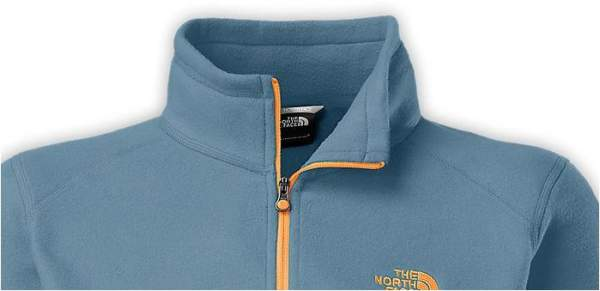 The Glacier jacket's pleasant collar design.