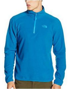The North Face Men's 100 Glacier 1/4 Zip Pullover micro fleece.