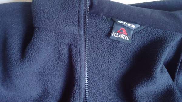 My own Polartec fleece jacket - very pleasant, the same structure outside and inside.