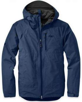 Outdoor Research Foray rain jacket for men.