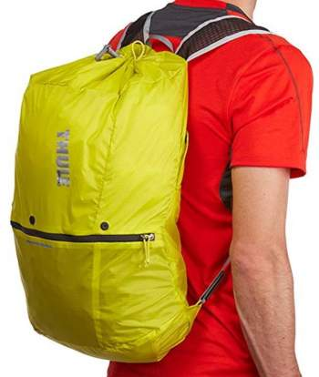 The daypack created from the removable lid.