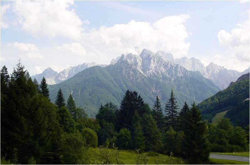 Triglav as seen from the main road.