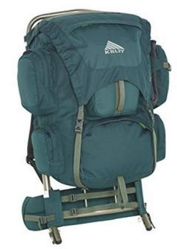 Kelty Yukon 48 external frame backpack for youth.