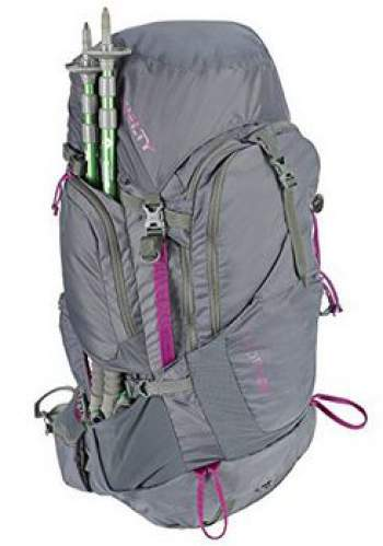 Kelty Coyote 60 - front view and pass-through pockets.