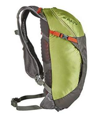 Kelty Riot 15 pack - side view. No side pockets available here.
