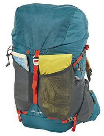 Kelty Sira 45 backpack, front view.