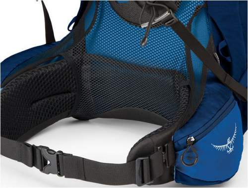 The lumbar zone without padding in Osprey Aether AG 60.