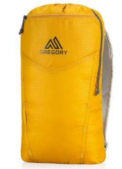 The hydration sleeve converted to a daypack.