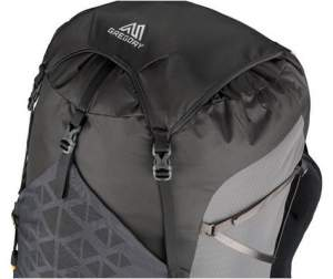 Paragon 68 - lidless use with top flap only. Visible also is the v-shaped upper side strap.