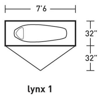 ALPS Mountaineering Lynx 1 tent - floor plan.