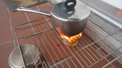 The only problem with fire is that you cannot control it. So let it go till the lunch is ready.