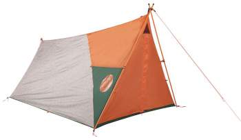 The tent with closed waterproof door and the vent.