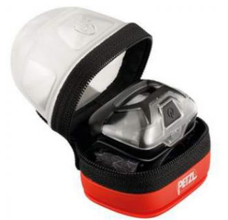Setting a headlamp in the Petzl Noctilight lantern.