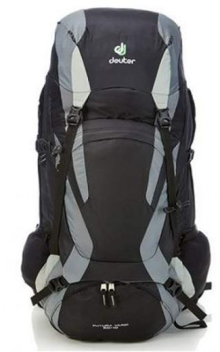 Deuter Futura Vario 50 + 10 with a floating lid.