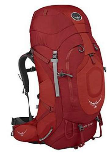 Osprey Xena 85 with an adjustable and removable lid that can be used as a lumbar pack.