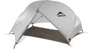 MSR Hubba Hubba NX 2 tent in its fast fly variant.