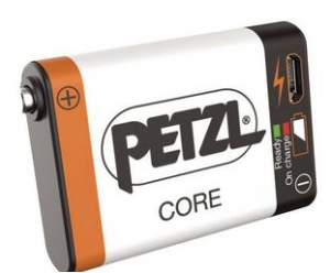 Petzl CORE rechargeable battery.