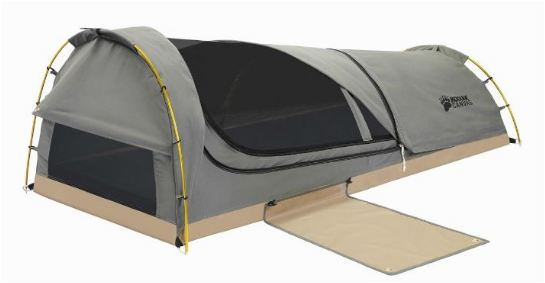 Kodiak Canvas 1-Person Canvas Swag Tent with Sleeping Pad.
