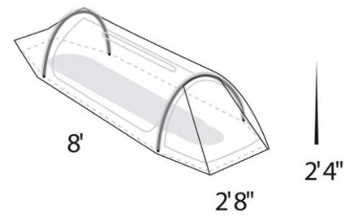 The tent plan and most important dimensions.