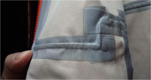 Fully taped seams in my technical completely waterproof jacket.