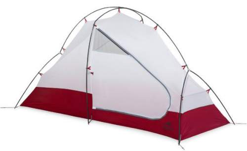 MSR Access 1 tent without the fly. The main pole is with two V-shaped ends that make it freestanding.