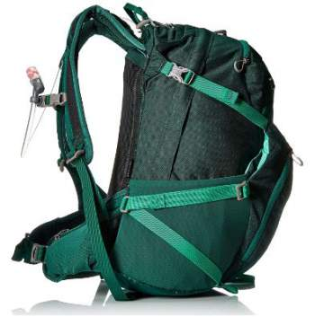 Skimmer 30 pack - side view showing the dual side straps and the side pocket.