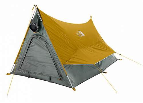 The front view showing the waterproof door with a storm flap.  sc 1 st  Mountains For Everybody & The North Face Tuolumne 2 Tent Review - New Design 40 Years Later ...