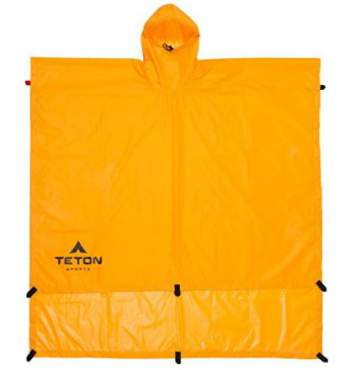 Teton Sports poncho covers you and the pack.