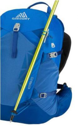 Attachment for trekking poles and an ice axe.