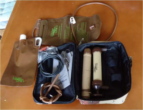 Pure2Go portable water purifier Go-Kit - all elements.