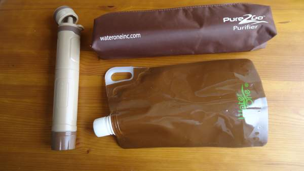 Pure2Go personal water purifier Traveler's Kit - my favorite kit for the Alps.